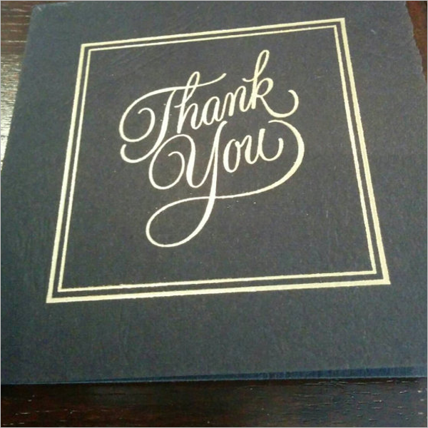 Free Vintage Thank You Card Template