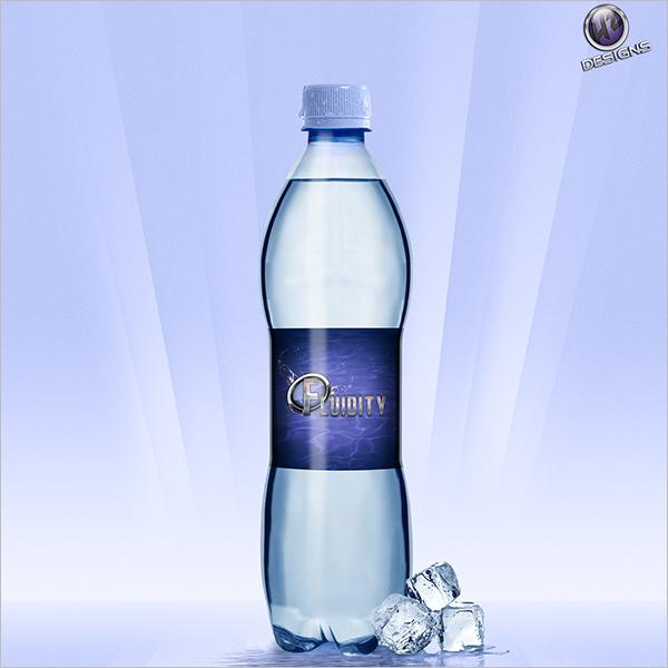 Free Water Bottle Mockup Design