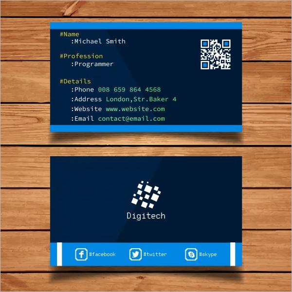 FreeWeb Developer Business Card Design