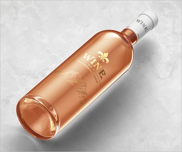 FreeWine Bottle Mockup