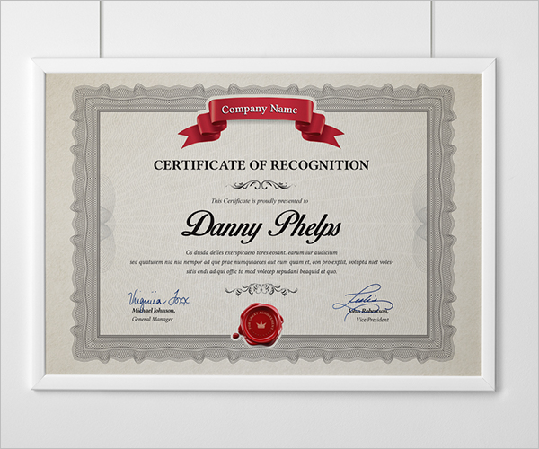 Free Word Certificate Template