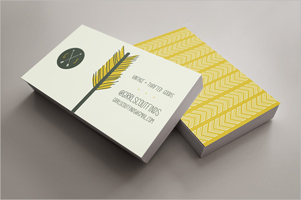 Free Yellow Business Card PSD Template