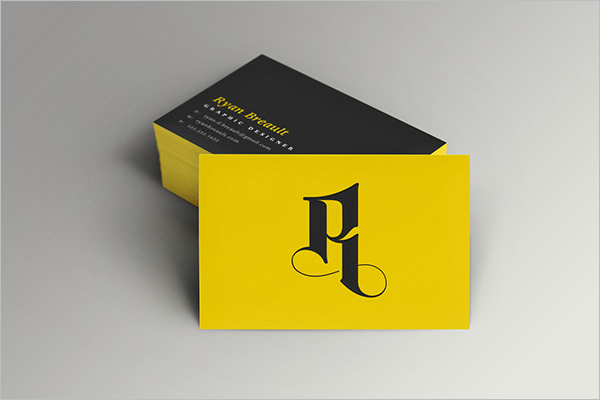 Free Yellow Business Card Template.png