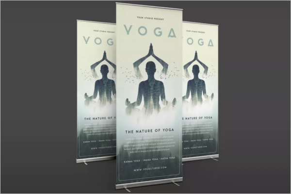 Free Yoga Banner Template'