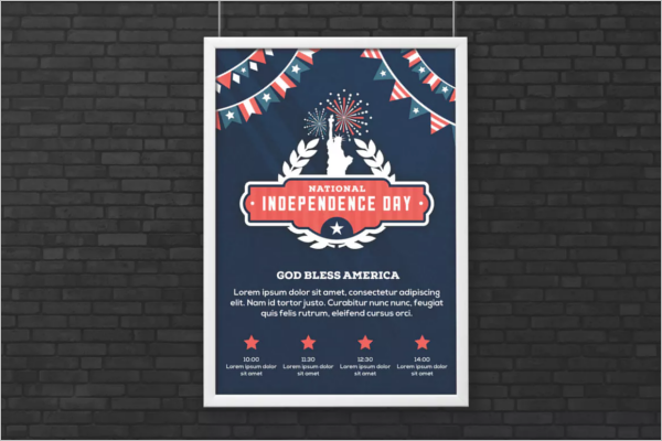 Freedom Flag Flyer Template