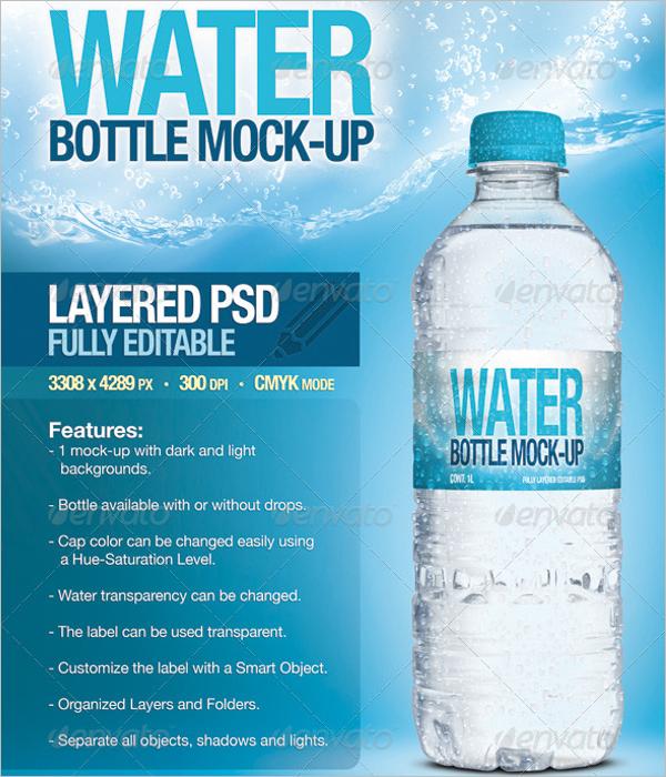 Fresh Water Bottle Mockup