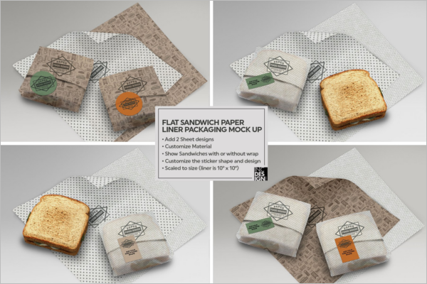 Frozen Food Packaging Mockup