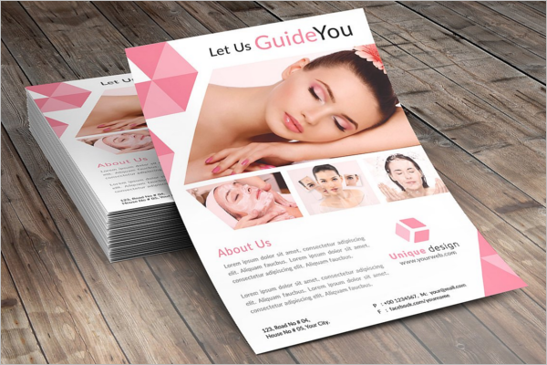 Fully Editable Beauty Salon Flyer Design