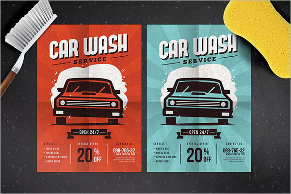 Car Wash Flyer Templates Free Psd Design Ideas