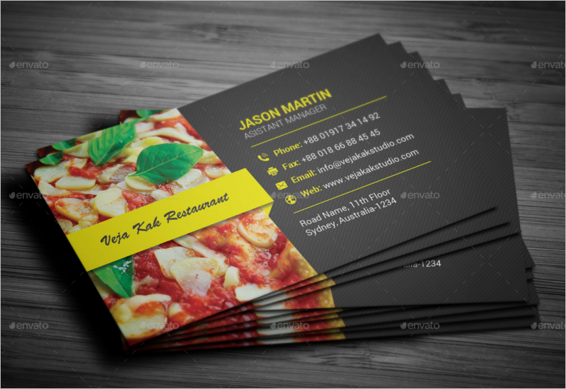 Fully Editable Restaurant Business Card Template
