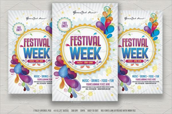 Fully EditableSeason Party Flyer Template