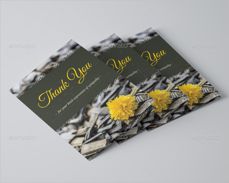 Funeral Program Thank You Card Template