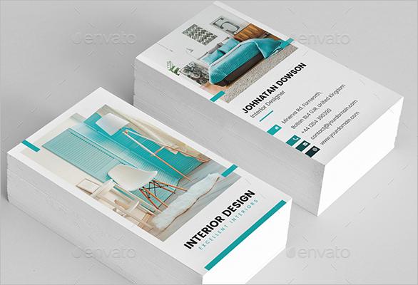 Furniture Business Card Vertical Design