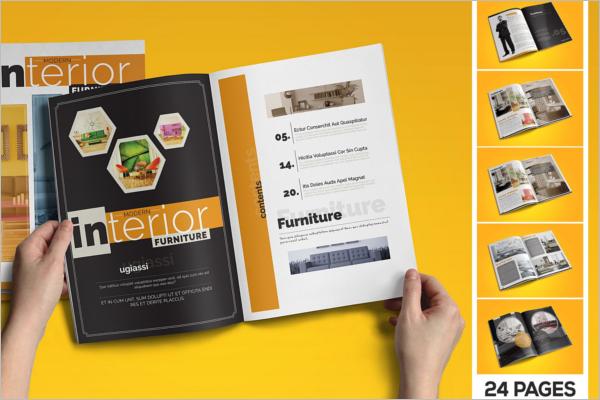 Furniture Catalogue Design For Interior Template