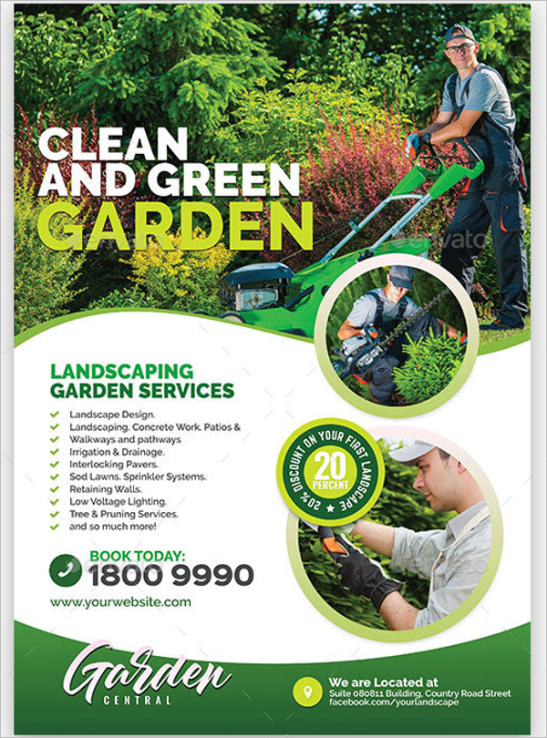 Gardening Small Business Flyer Template