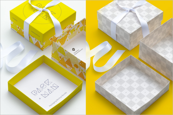 Gift Box Mockup Clean Design