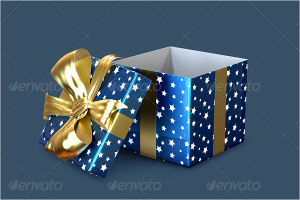 Gift Box Mockup Design Template