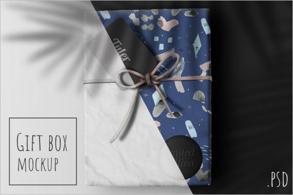 Gift Box Mockup Design
