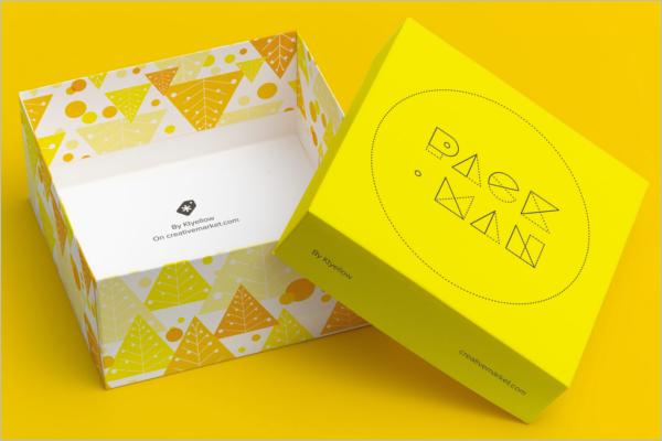 Gift Box Mockup Elegant Design