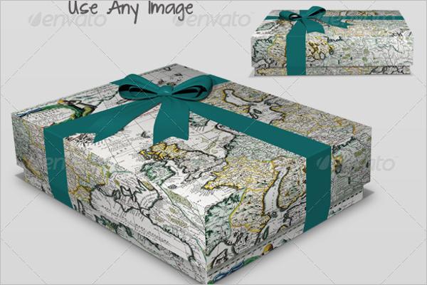 Gift Box Mockup Quality Design