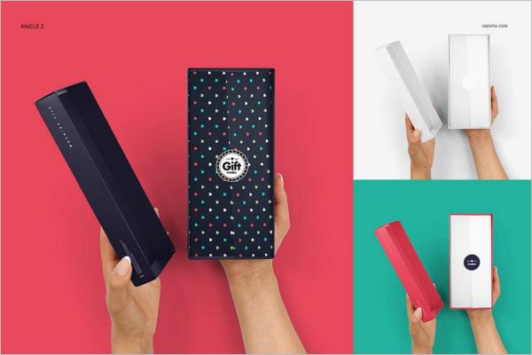 Gift Box Mockup Set Design