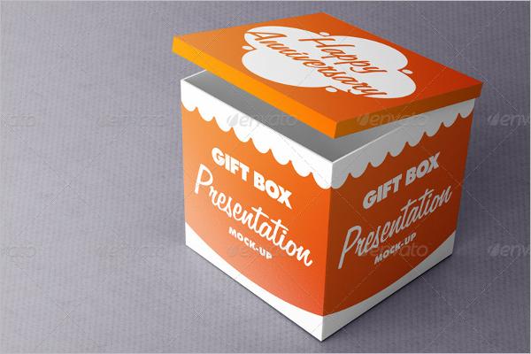 Gift Box Presentation Mockup Template