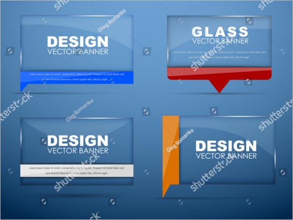 Glass Banner Design Vector
