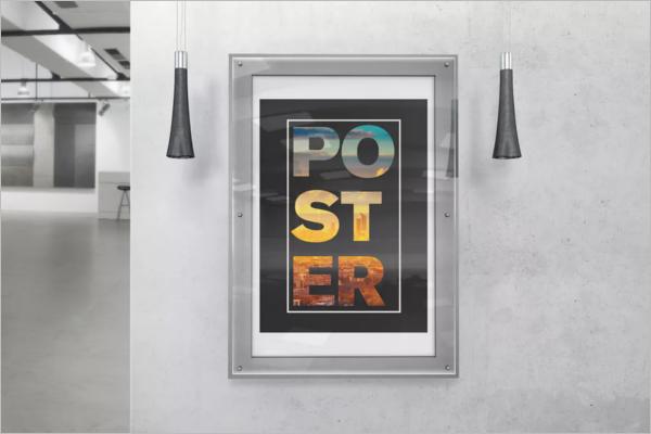 Glass Poster Frame Mockup Design