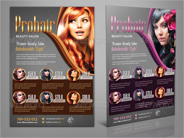 Golden Beauty Salon Flyer Design