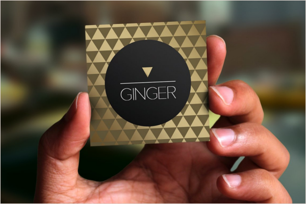 Golden Square Business Card Design
