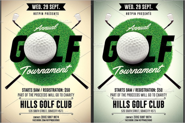 Golf Flyer A5 Template