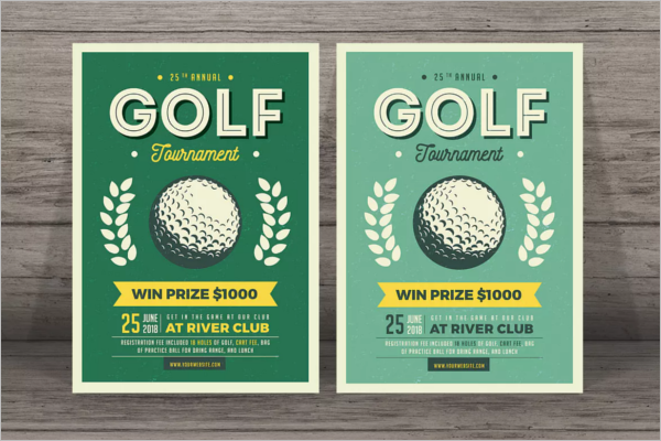 Golf Flyer Design PSD