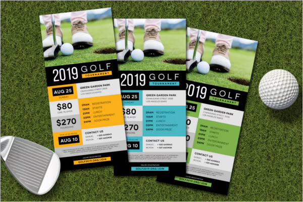 Golf Rack Card Template