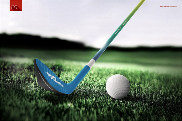 Golf Stick Mockup Template
