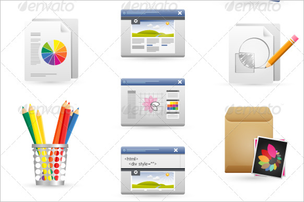 Graphic Design Template Icon