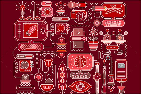 Graphic Design Template Illustration