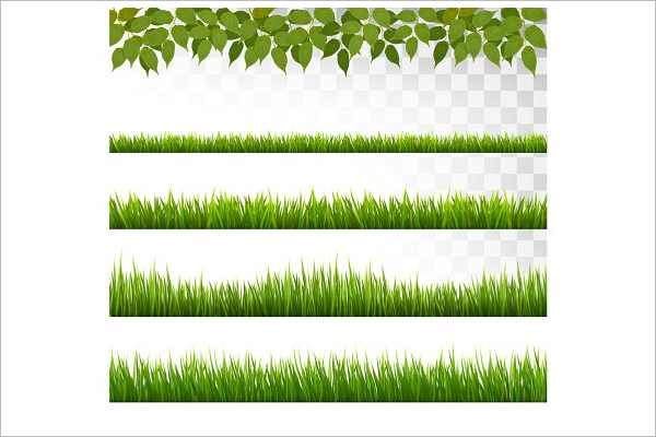 Grass Design Border Template