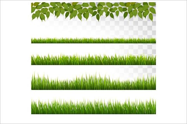 Grass Design Border Template
