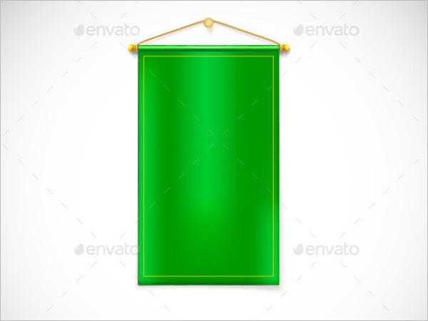 Green Pennant Banner Template
