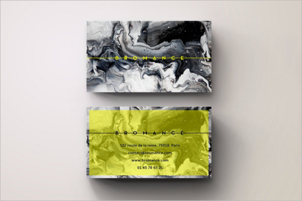 Green & Yellow Business Card Template