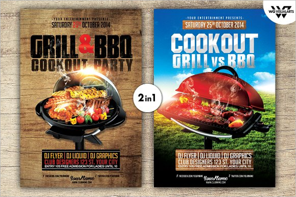 Grill BBQ Flyer Template