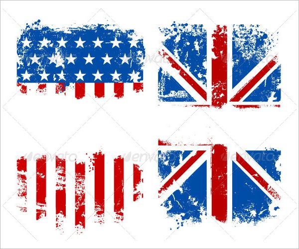 Grunge Flag Banner Template