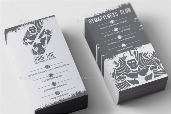Gym Business Card Clean Design