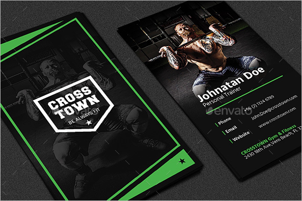 Gym Pro Business Card Design