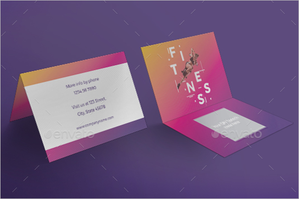 Gym Training Business Card Design