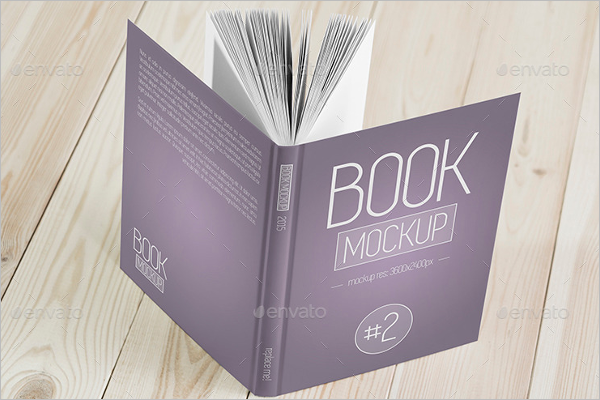 HD Book Cover Mockup Template