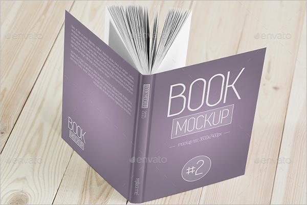 HD Book Cover Mockup Template