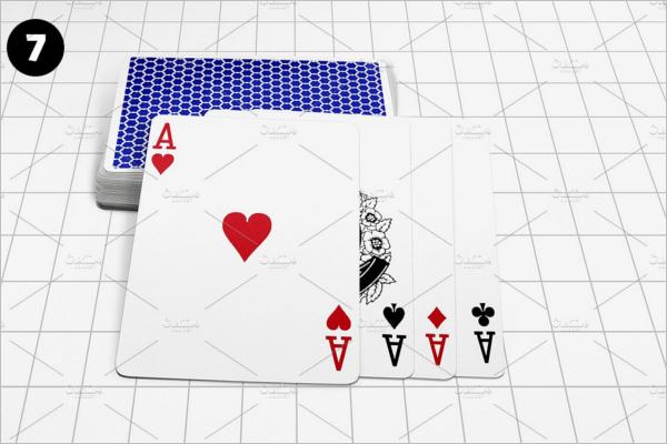 HD Playing Card Mockup Design
