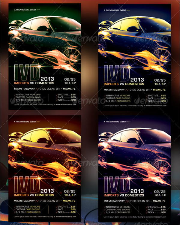 HD Racing Flyer Template