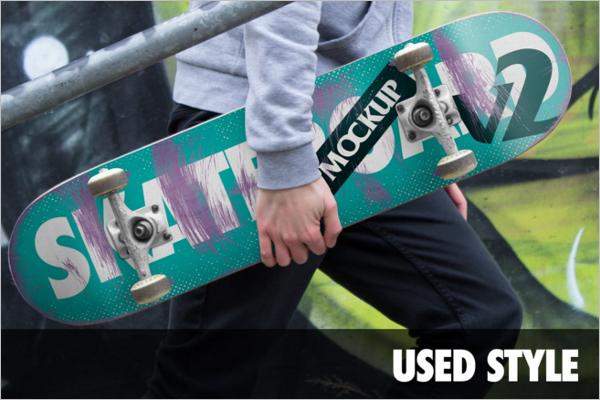 HD Skateboard Mockup Design